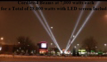 4 BEAMS 7,000 WATTS JACK ASTOR'S BRAMPTON
