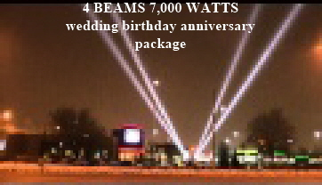 4 BEAMS 7,000 WATTS wedding birthday anniversary package
